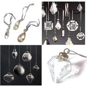Restoration Hardware Antiqued Glass Ornaments NWT